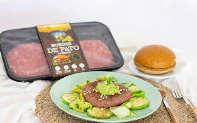 Burger de pato con verduras